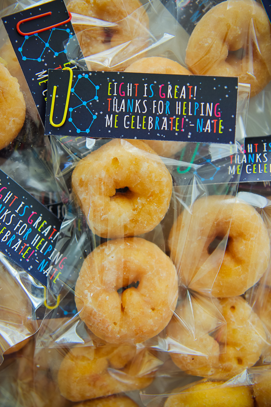 8th Birthday Donut Favors