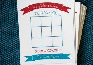 DIY Tic Tac Toe Valentine's Cards